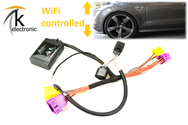 AUDI A7 4G Luftfahrwerk Tieferlegung per Bluetooth APP active suspension control
