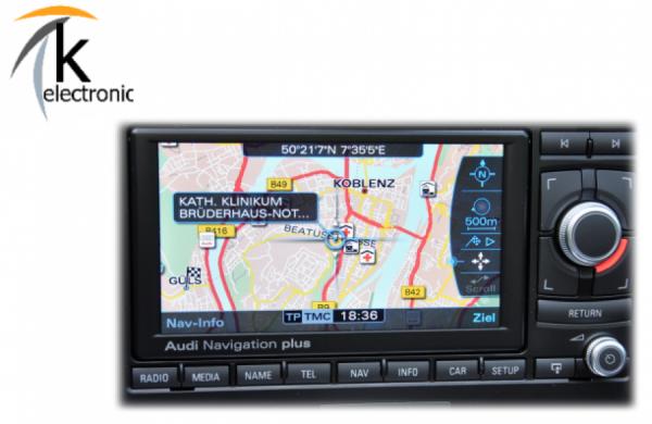 AUDI RNS-E Navigation plus USA auf EU Update / Umstellung