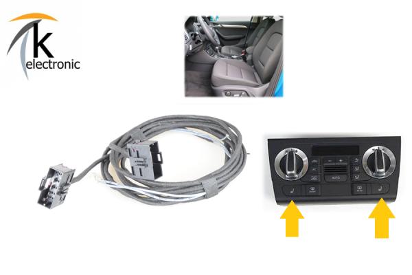 AUDI Q3 8U Sitzheizung Sitzverstellung Lordose vorne / Front Kabelsatz