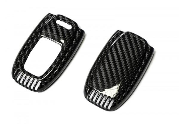 Echt-Carbon Cover für Audi Schlüssel - Variante 1