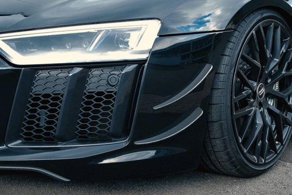 Capristo Audi R8 4S V10 Plus Carbon Frontwings, matt, Gewebe K