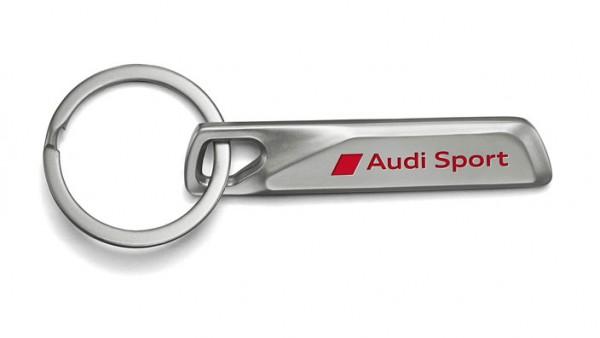 "Edelstahl Schlüsselanhänger ""Audi Sport"", silber"