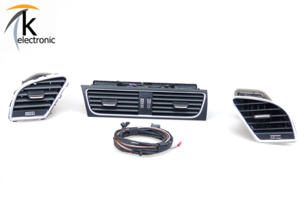 AUDI A4 8K B8 beleuchtete Frischluftausströmer Nachrüstpaket komplett
