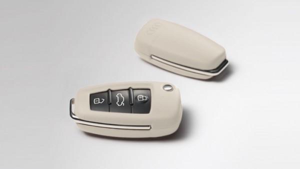 Audi - Leder Schlüsselcover, alabasterweiß