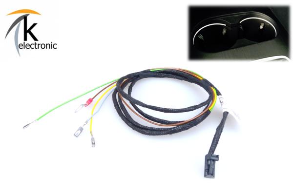 AUDI A3 8V Cupholder beleuchtet / Lichtpaket Kabelsatz