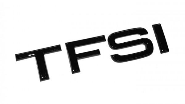 "Audi Emblem ""TFSI"" schwarz glänzend"