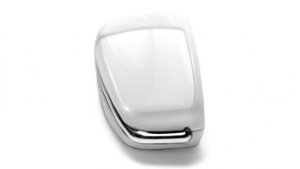 Audi - lackierte Schlüsselblende, gletscherweiß