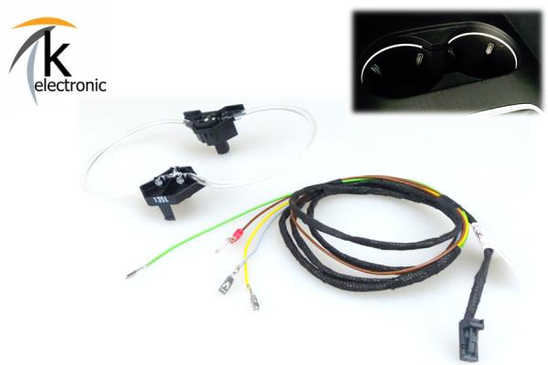 AUDI A3 8V Cupholder beleuchtet / Getränkehalter LED Nachrüstpaket