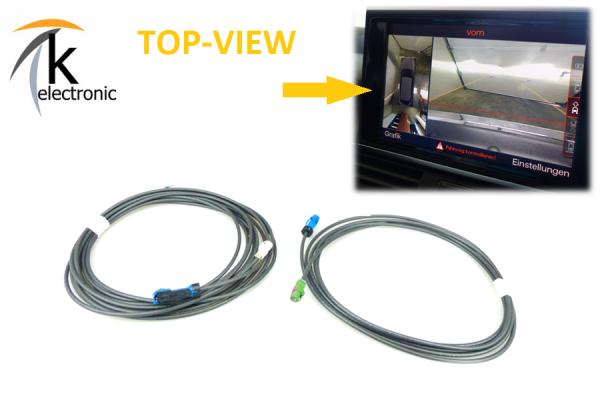 AUDI A7 4G Front-& Rückfahrkamera -> Umfeldkamera Kabelsatz