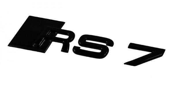 """Audi Emblem """"RS 7"""" schwarz glänzend für Gepäckraumklappe"""