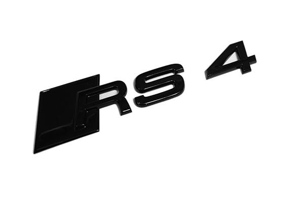 """Audi Emblem """"RS 4"""" schwarz glänzend für Gepäckraumklappe"""