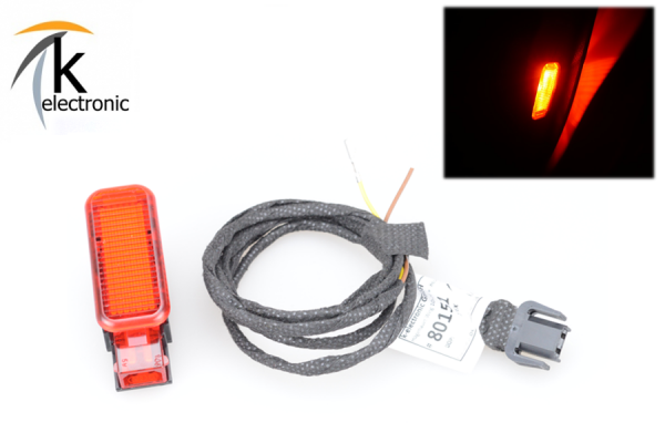 AUDI Q5 8R Türbeleuchtung rote Warnleuchte Nachrüstpaket