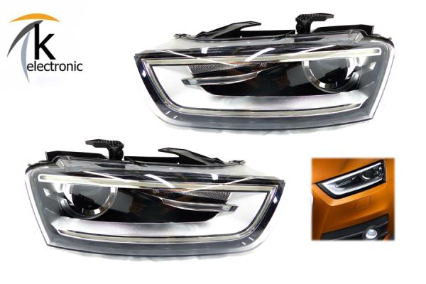 AUDI Q3 8U Bi-Xenonscheinwerfer mit LED-TFL Nachrüstpaket