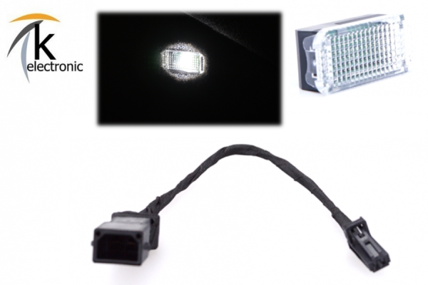 AUDI A1 8X Kofferraumbeleuchtung Halogen -> LED-Umbaupaket
