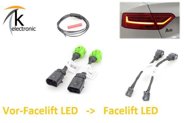AUDI A5 8T 8F Facelift LED-Rückleuchten Heckleuchten Adapter VFL LED FL LED