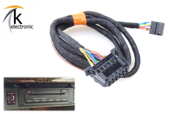 AUDI A3 8P 8PA CD-Wechsler Kabelsatz für Concert Symphony BNS RNS-E
