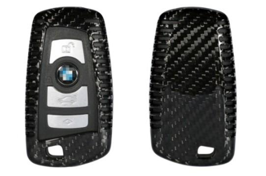 Echt-Carbon Cover für BMW Schlüssel - Variante 2