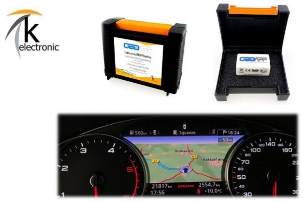 AUDI A4 B9 8W Kartendarstellung der Navigation im Tacho freischalten Nachrüstpaket