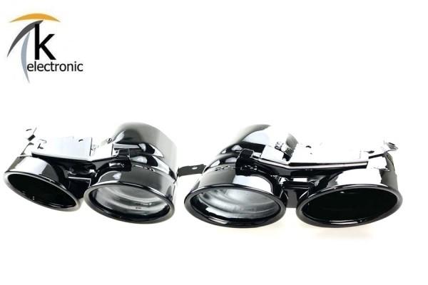 AUDI SQ7 4M Facelift schwarze Endrohrblenden Auspuffblenden