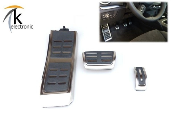 AUDI A4 8K B8 A5 8T 8F Q5 8R RS Edelstahl FACELIFT Pedalkappen + Fußstütze