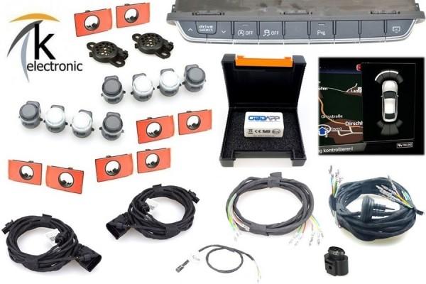 AUDI A4 B9 8W Einparkhilfe vorne + hinten mit optischer Darstellung Nachrüstpaket
