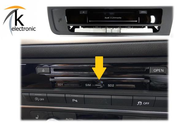 AUDI A7 4G connect mit SIM-Slot für Navigation plus touch Nachrüstpaket