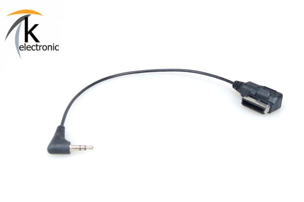 AUX-IN 3,5mm Klinke > AUDI/VW Anschlussadapter für AMI/MDI
