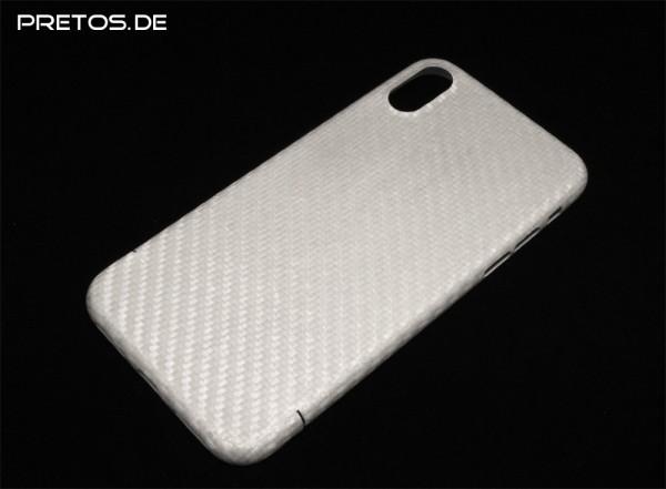 GFK Cover für iPhone X - perlmutt-weiß