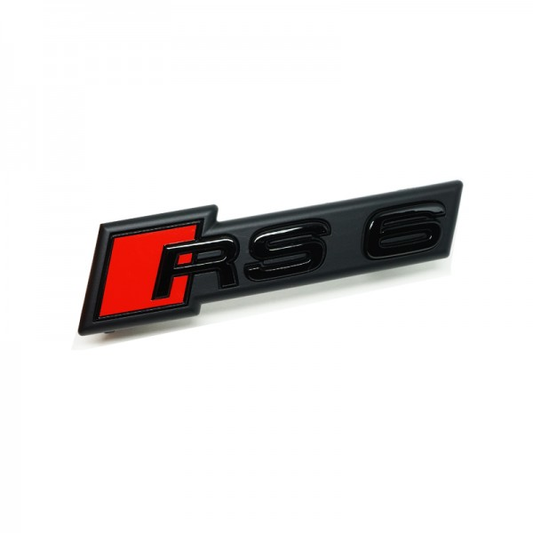 """Audi Schriftzug """"RS6"""", schwarz glänzend für Kühlergrill"""