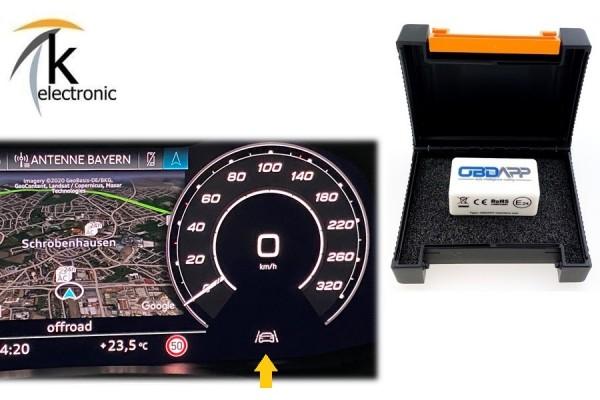 AUDI A6 4A C8 Spurverlassenswarnung Spurhalteassistent permanent ausschalten Nachrüstpaket
