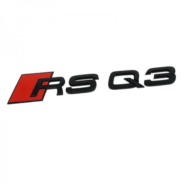 """Audi Schriftzug """"RS Q3"""" schwarz glänzend für Gepäckraumklappe"""