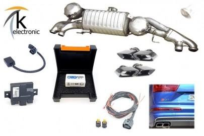 AUDI Q7 auf SQ7 4M aktive elektronische Abgasanlage Nachrüstpaket