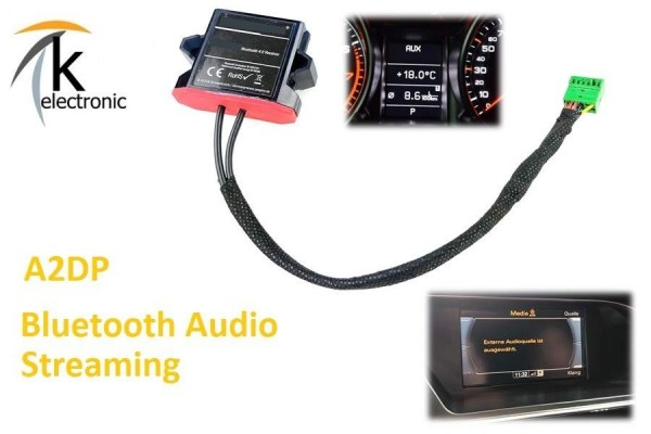 AUDI A5 8T 8F Musik über Bluetooth streamen für MMI3G 3G+ Nachrüstpaket