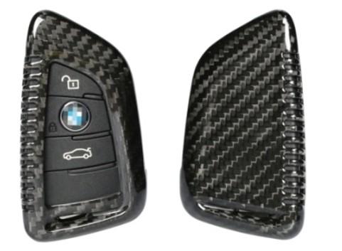 Echt-Carbon Cover für BMW Schlüssel - Variante 1