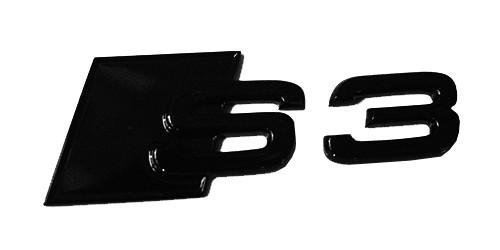 """Audi Emblem """"S3"""" schwarz glänzend für Gepäckraumklappe"""