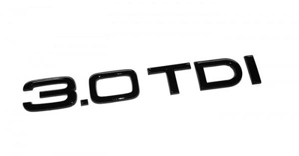 "Audi Emblem ""3.0 TDI"" schwarz glänzend"