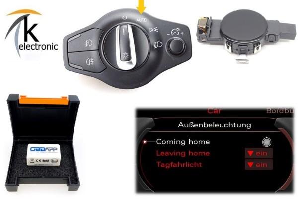 AUDI A5 8T 8F FL Licht-/Regensensor + Coming Home Leaving Home Nachrüstpaket