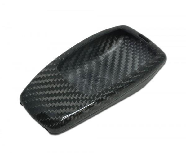 Echt-Carbon Cover für Mercedes Schlüssel - silber-schwarz