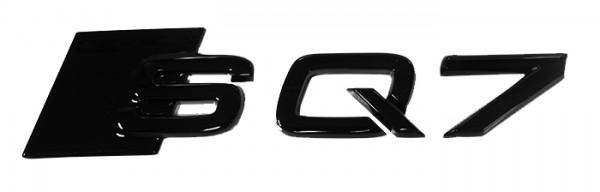 """Audi Emblem """"SQ7"""" schwarz glänzend für Gepäckraumklappe"""