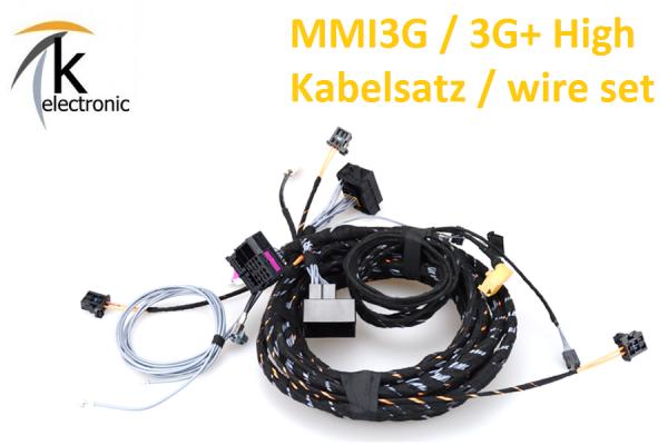 AUDI Q3 8U MMI3G/3G+ Navigation plus Kabelsatz