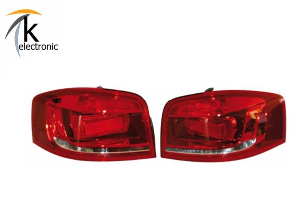 AUDI A3 8P Facelift LED Heckleuchten Nachrüstpaket