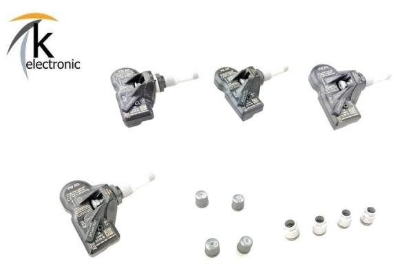 AUDI A4 B9 A5 F5 A6 4A A7 4K Q7 4M Q8 4M8 Reifendruckkontrollsensoren 4x mit Montagematerial