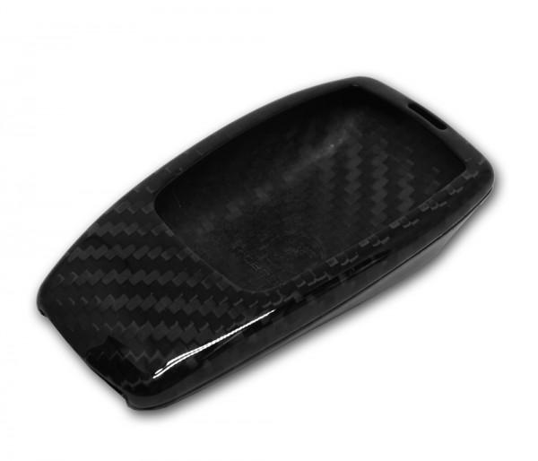 Echt-Carbon Cover für Mercedes Schlüssel - schwarz
