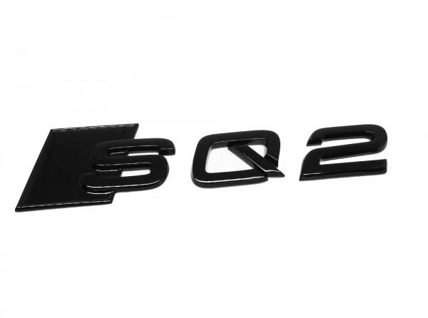 """Audi Schriftzug """"SQ2"""" schwarz glänzend für Gepäckraumklappe"""