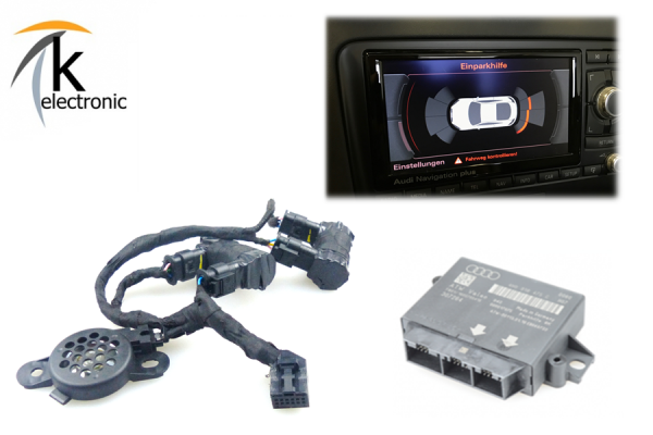 AUDI A3 8P 8PA Einparkhilfe Heck optische Darstellung für RNS-E Nachrüstpaket
