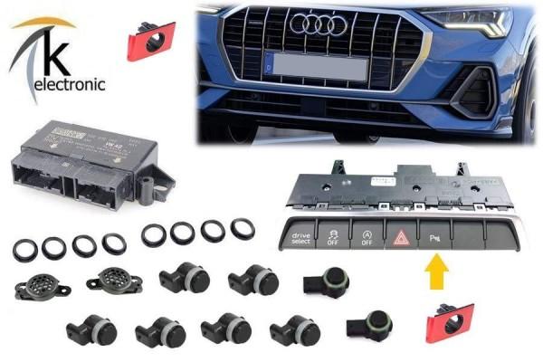 AUDI Q3 F3 Einparkhilfe APS+ Front Heck PDC vorne hinten mit OPS Nachrüstpaket