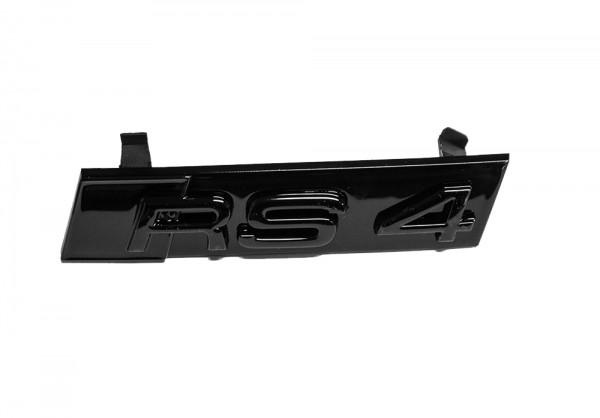 """Audi Schriftzug """"RS 4"""" schwarz glänzend für Kühlergrill"""