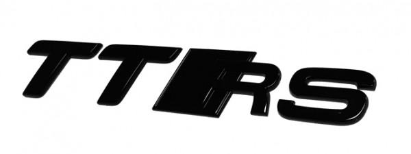 Audi TTRS Schriftzug hinten, schwarz glänzend