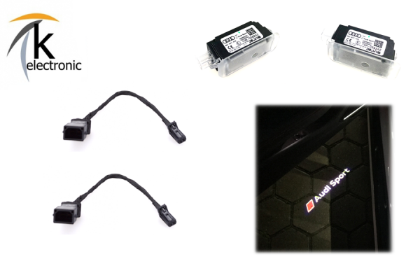 AUDI A4 8K Umbausatz auf AUDI SPORT / RS LED für Türbeleuchtung