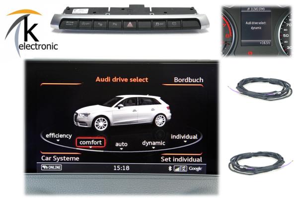 AUDI A3 8V Drive Select / Fahrmodusschalter Nachrüstpaket
